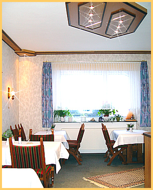 Der Speiseraum für unsere Hausgäste